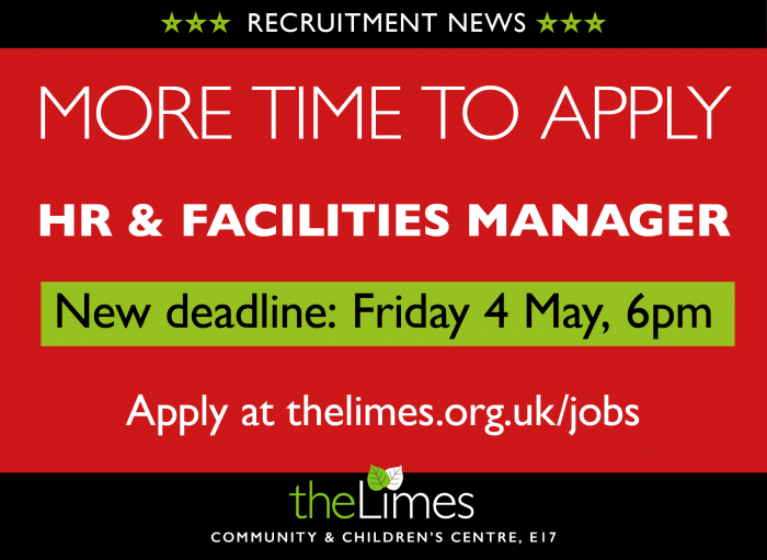 Job application extension, work at The Limes, Job in Waltham Forest