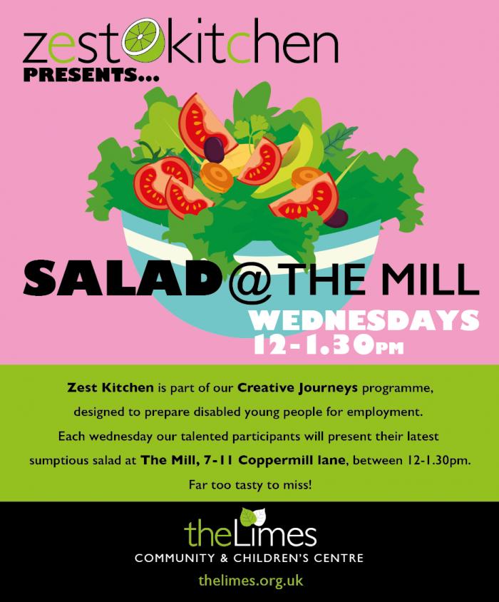 Salad, eat local, e17 food, lunch e17
