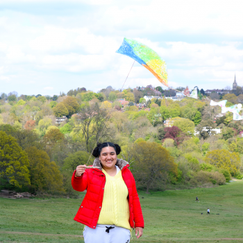Friends Empowered kite flying with The Limes